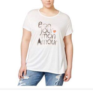 RACHEL Rachel Roy Plus Graphic T Shirt